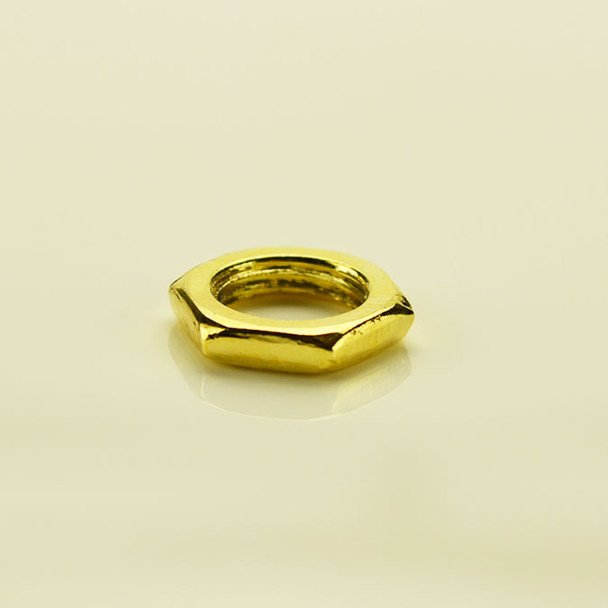 Brass Plated Hex Nut