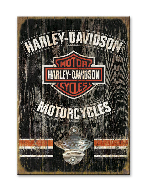 Harley Sign with Bottle Opener