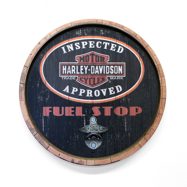 Harley Barrel End Sign