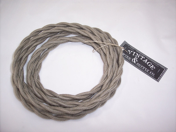 Gray Cotton Twisted Wire - By the Foot - Small Qty - 18 Gauge