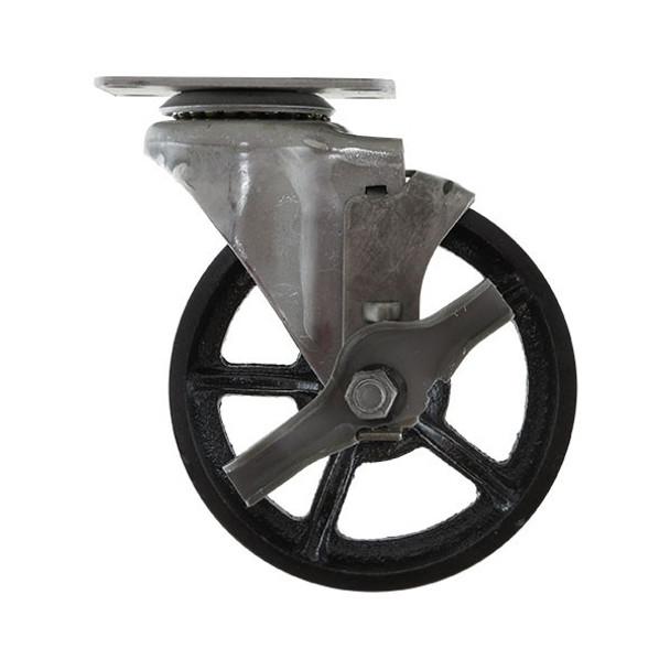Industrial Vintage Caster - Cast Iron - Swivel w/ Brake