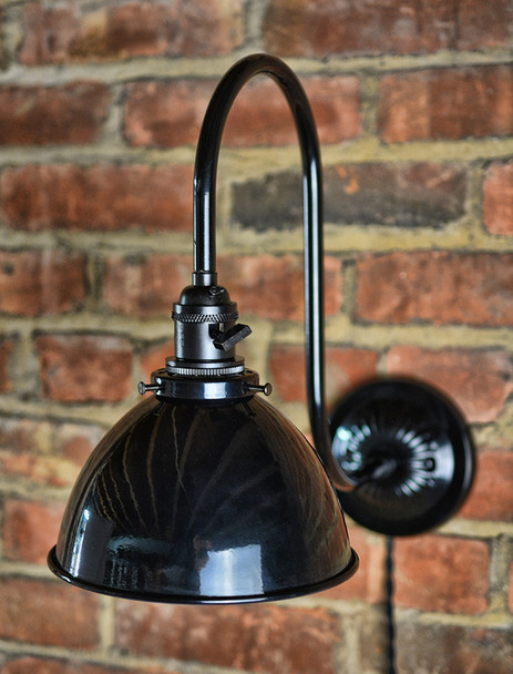 Black Gooseneck Wall Sconce