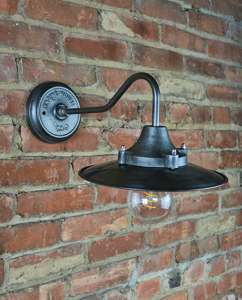 Industrial Wall Sconce Black
