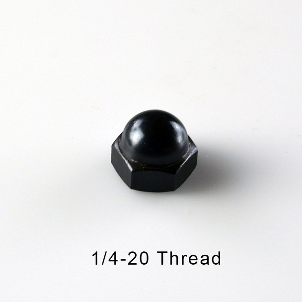 1/4-20 Black Cap Acorn Nut