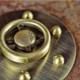 Dimmer Wheel Knob - Antique Brass