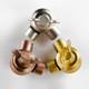 Swivel Clutch Elbow - Cast Brass - Butterfly Knob - Nickel Finish