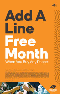 Boost Mobile add a line free month in Detroit, mi