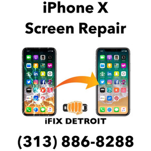 iPhone X screen replacement in detroit,mi