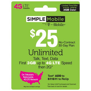 T-Mobile Simple Mobile Plan