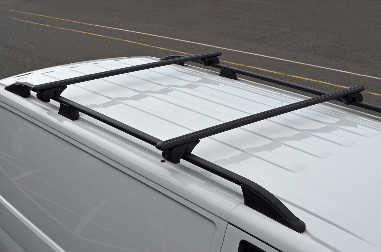 Black Cross Bars For Roof Rails To Fit Nissan Navara NP300 ...