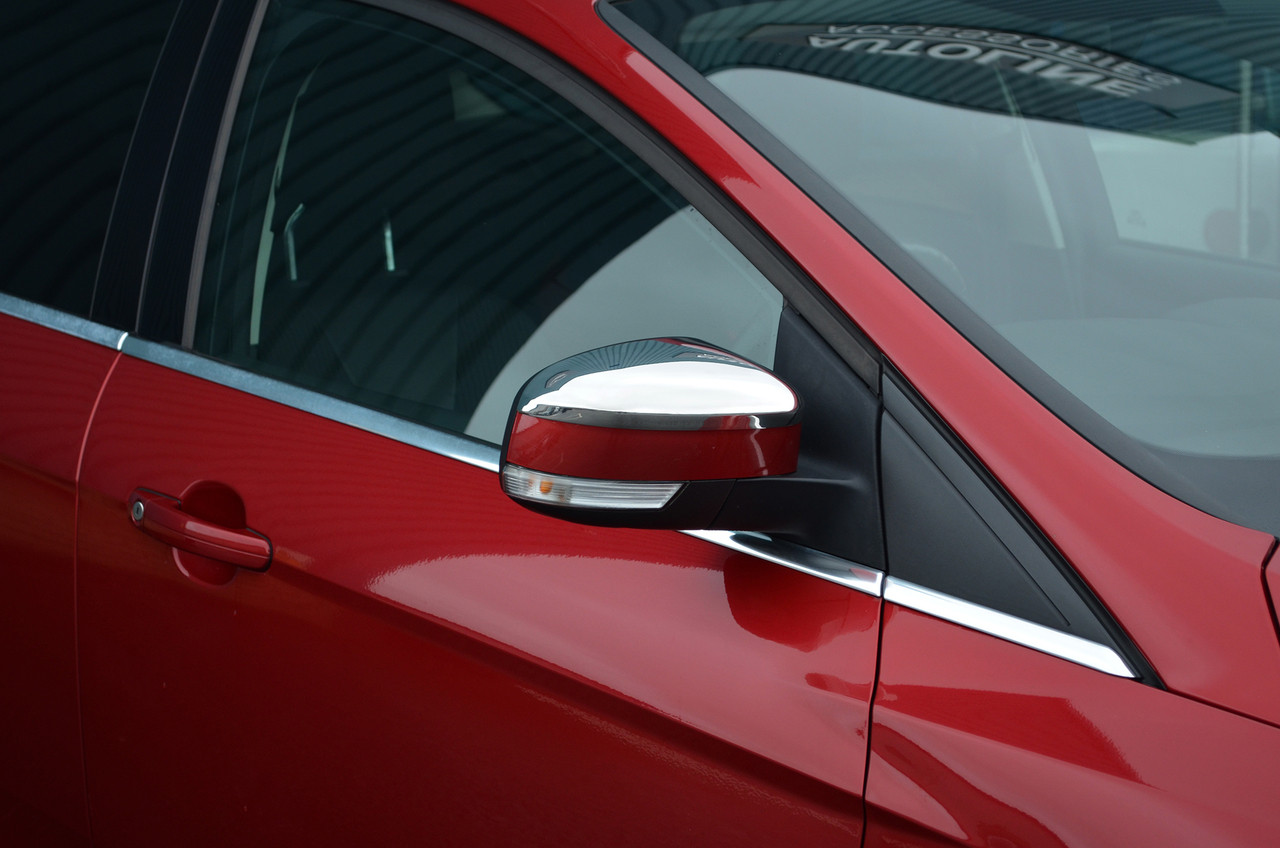 Chrome Set Mirror /& 4 Door Handle Covers For 13 14 Ford Focus 3 Sedan Hatchback