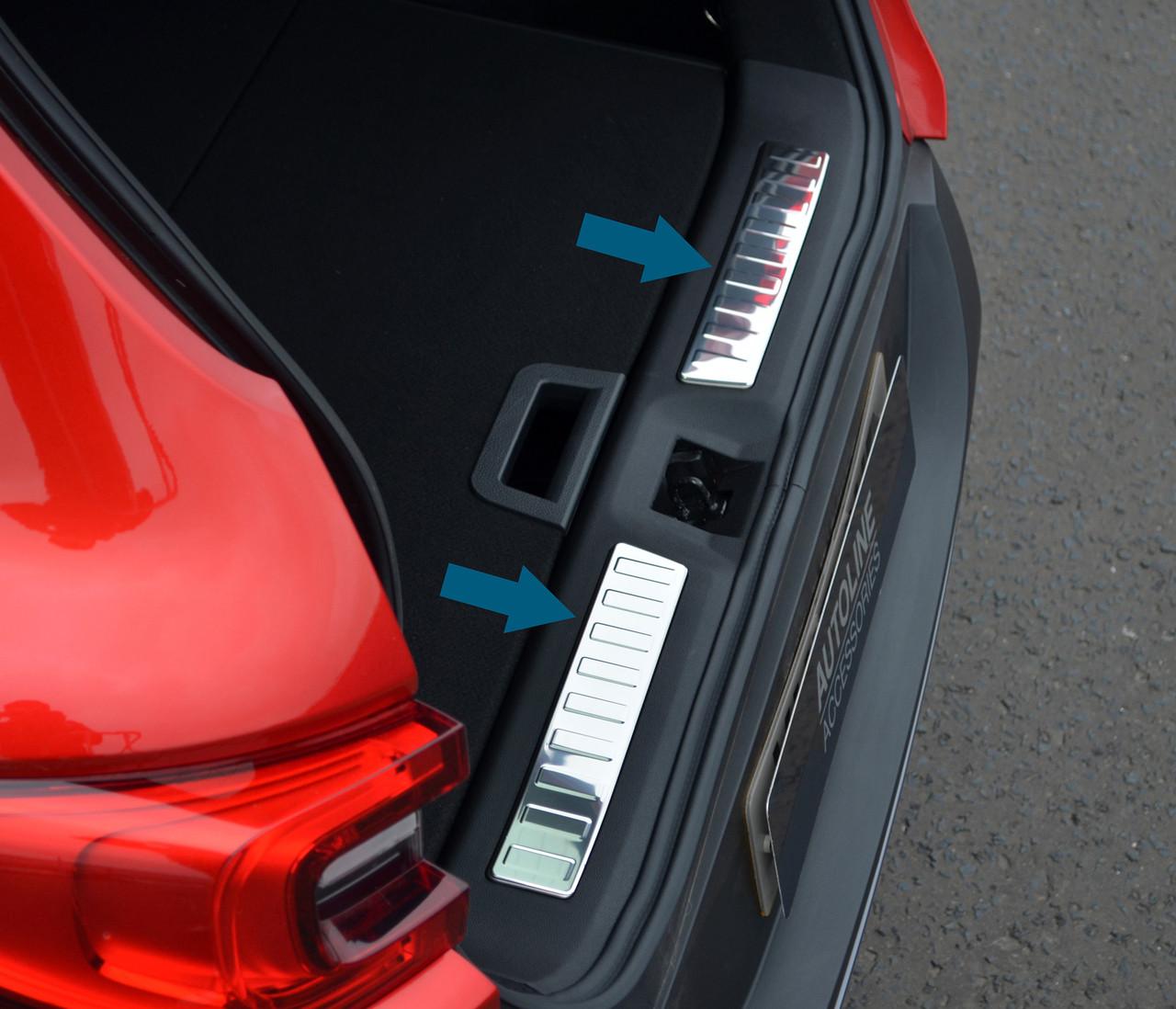 Mercedes Benz W169 A-Class Rear Bumper Protector Guard Trim Cover Chrome Sill