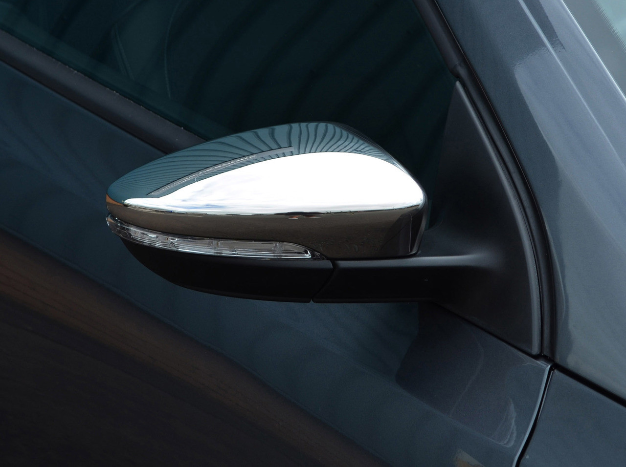 2010-14 Chrome Wing Mirror Trim Set Covers To Fit Juke
