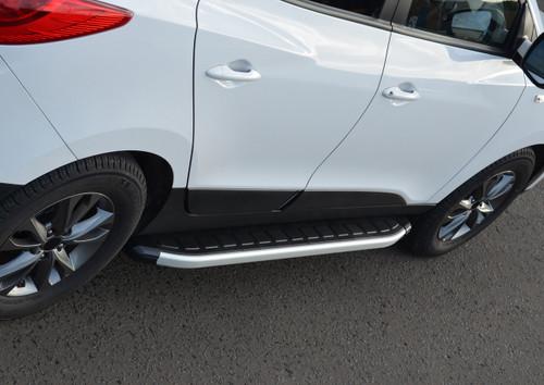 Aluminium Side Steps Bars Running Boards To Fit Hyundai ix35 (2010+)