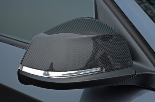 Carbon Fibre Wing Mirror Trim Set Covers To Fit BMW 1 Series (2011+)