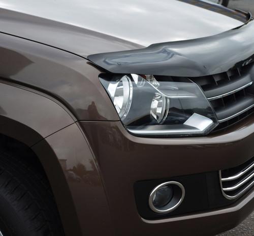 Bonnet Trim Protector Bug Guard Wind Deflector To Fit Volkswagen Amarok (2010+)
