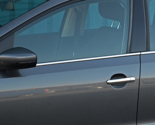 Chrome Side Door Window Sill Trim Set Covers To Fit Peugeot 208 2012+
