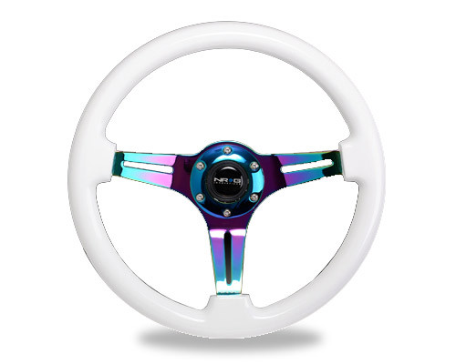 NRG Racing 3 Spoke NeoChrome Steering Wheel 350MM in multiple colors