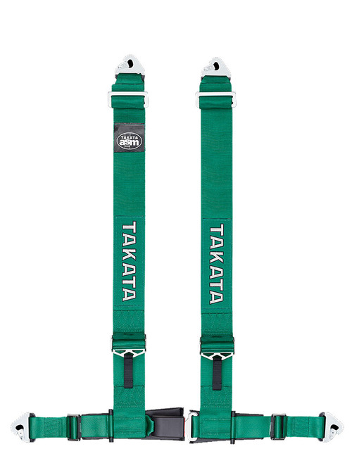 "Takata DRIFT III Snap / Bolt - 4 Point 3"" Racing Seat Belt Harness (Green or Black)"