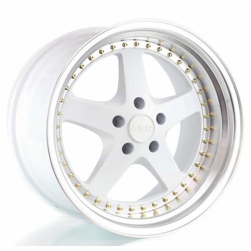 ESR SR04 wheel in gloss white face machined lip