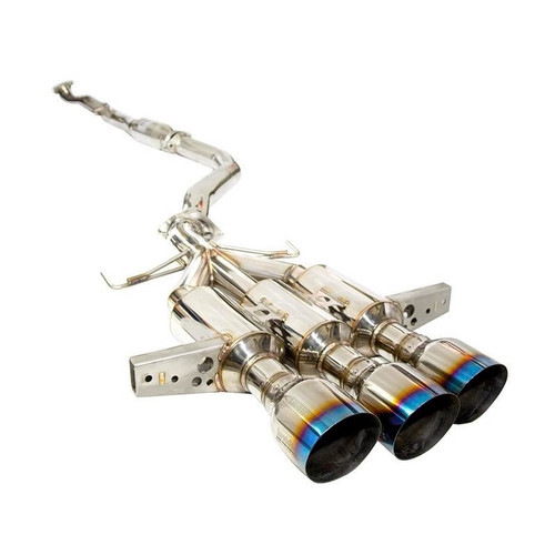 Invidia 2017-2019 Honda Civic Type-R Gemini/R400 Full 76mm Exhaust w/Front Pipe & Titanium Tips