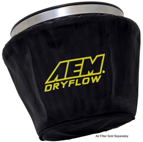 AEM Air Filter Wrap Black 7.5in Length x 5in Width x 5in Height