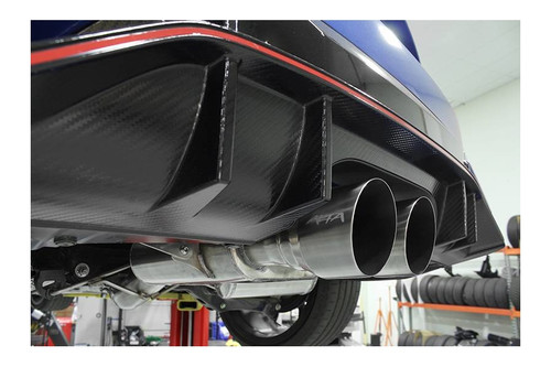 Alta 17-18 Honda Civic Type-R Brushed Twin Tip Non Resonated Catback Exhaust