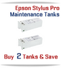 2 - Compatible Maintenance Tank for EPSON Stylus Pro Printers