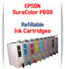 9 - Refillable Ink Cartridges Epson SureColor P600 printer