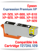 T273XL120 Photo Black Epson Expression Premium XP Compatible Printer Ink Cartridge