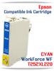 CYAN T252XL220 Epson WorkForce WF compatible ink cartridge