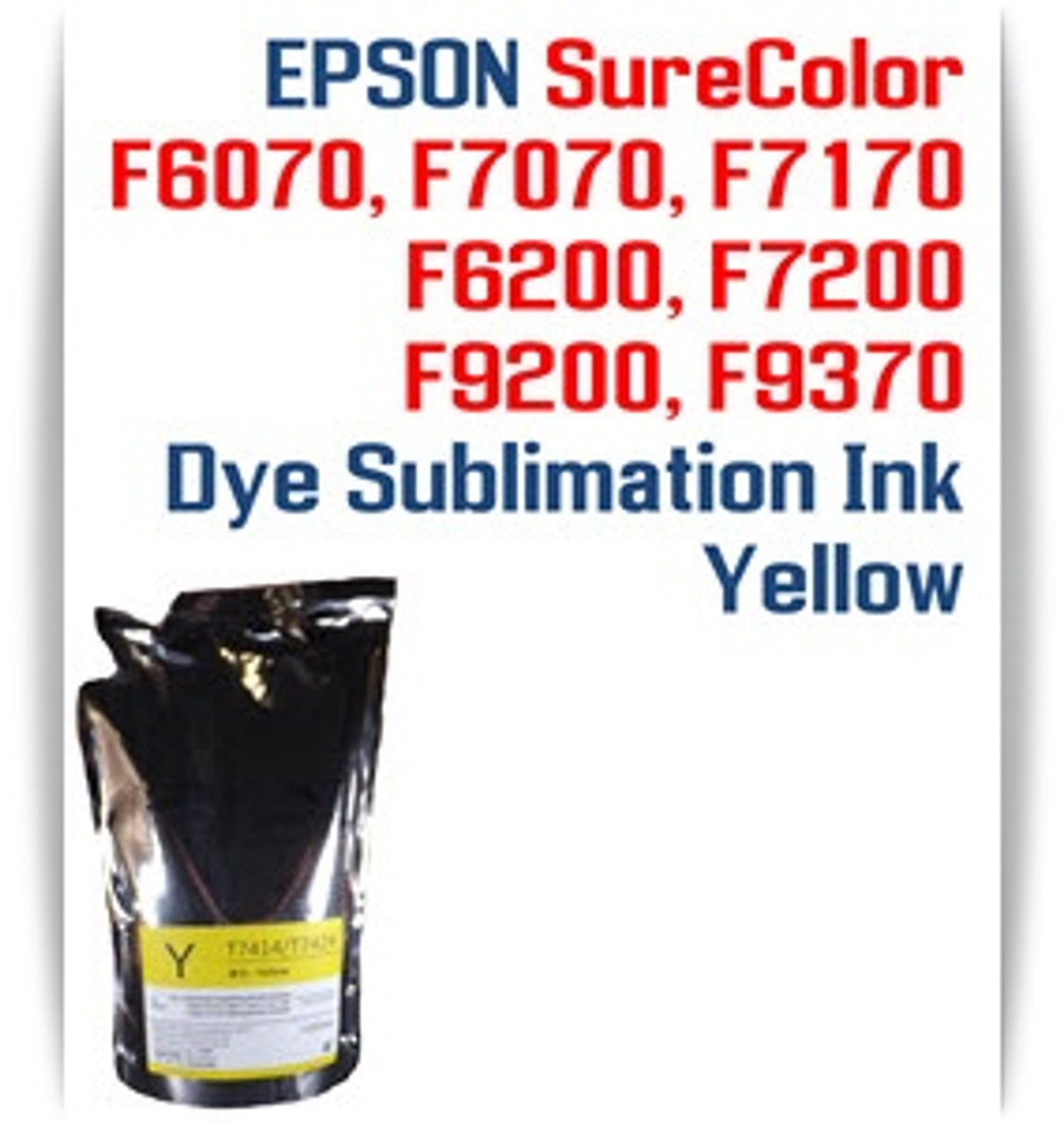 EPSON SureColor F6070, F7070, F7170, F6200, F7200, F9200, F9370 printer Dye Sublimation Ink - Yellow chip