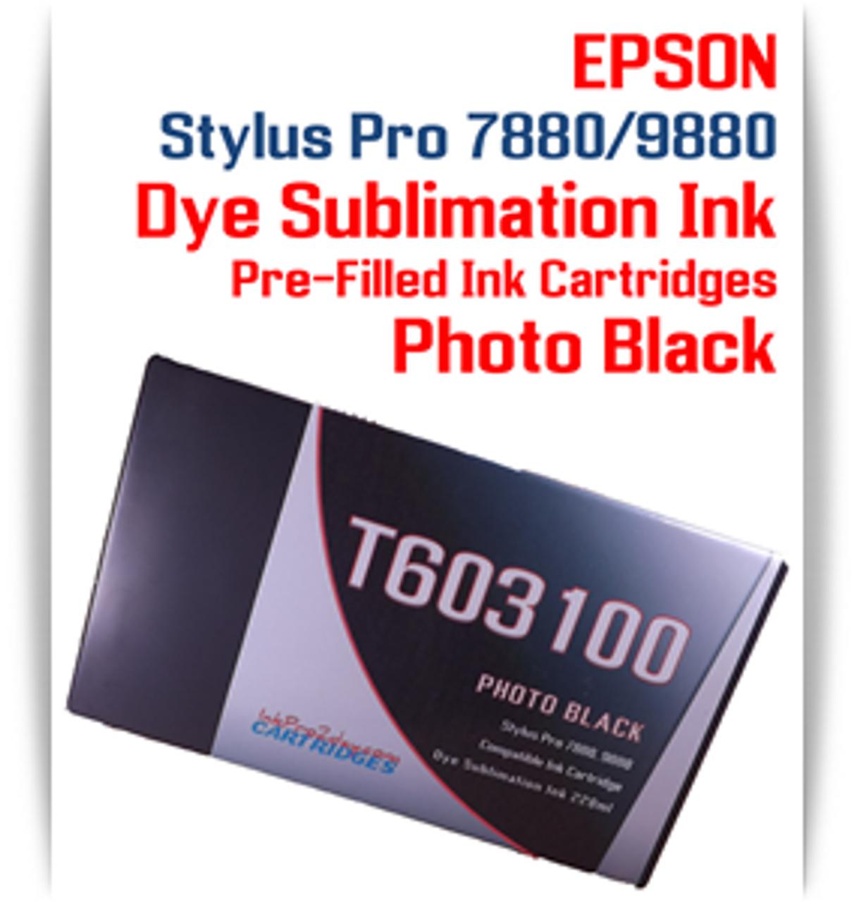 Photo Black Epson Stylus Pro 7880/9880 Pre-Filled with Dye Sublimation Ink Cartridge 220ml