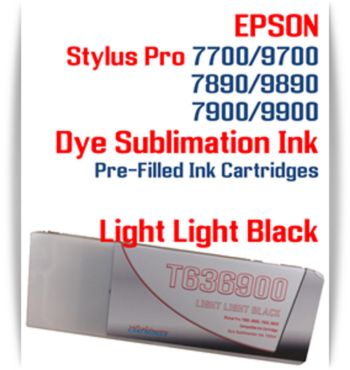 Light Light Black Epson Stylus Pro 7890/9890 Pre-Filled Dye Sublimation Ink Cartridge