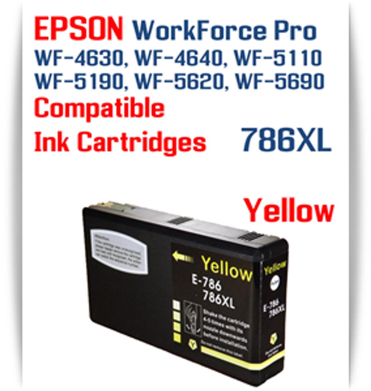 Yellow 786XL Epson WorkForce Pro Printer Compatible Ink Cartridge