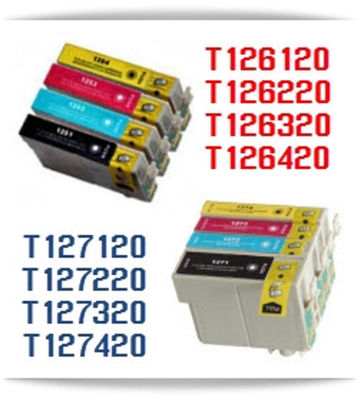 T126, T127 Epson Inkjet Printer Compatible Ink Cartridges