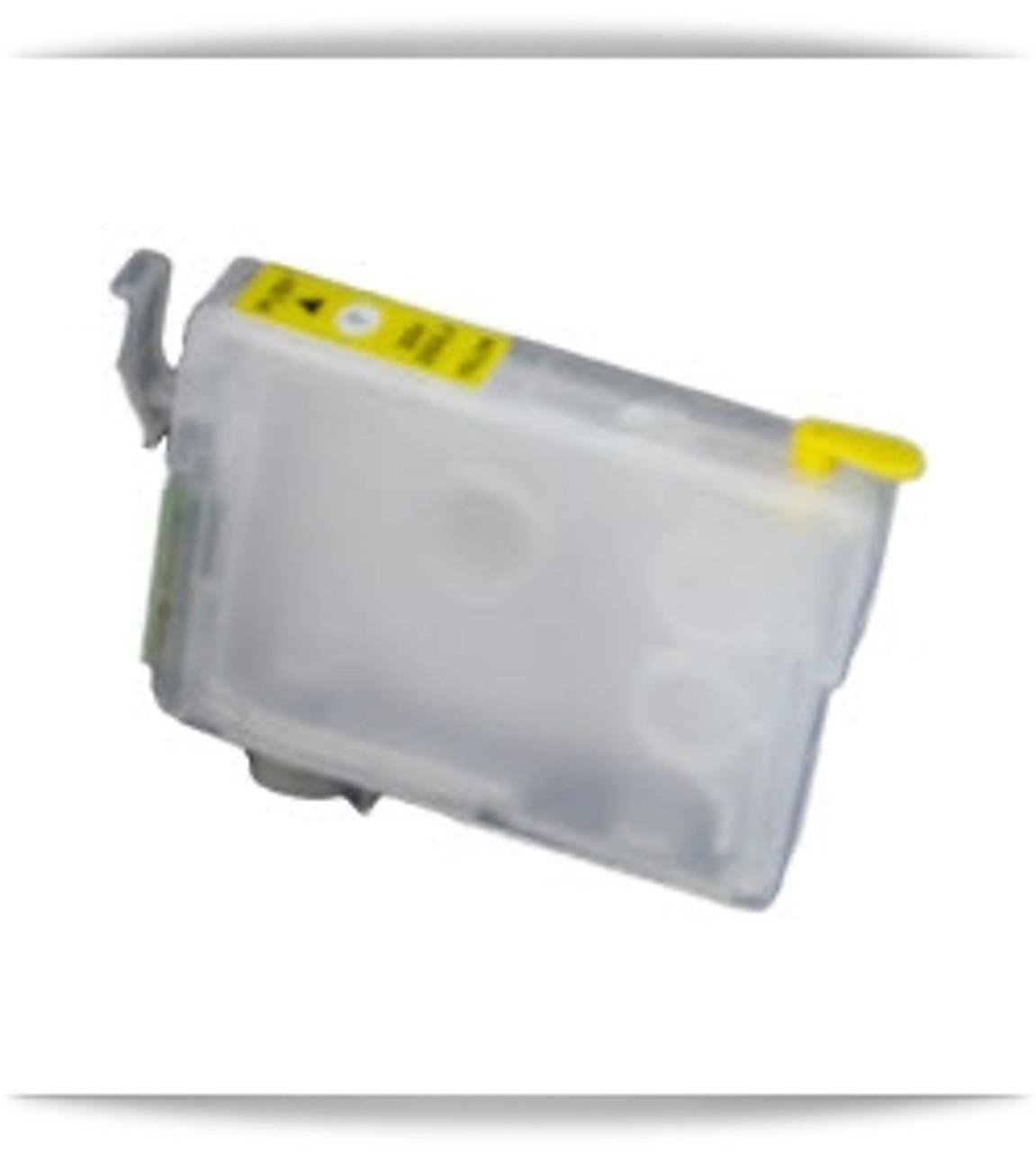 Yellow Refillable Epson Expression Home XP, WorkForce WF printer ink cartridge