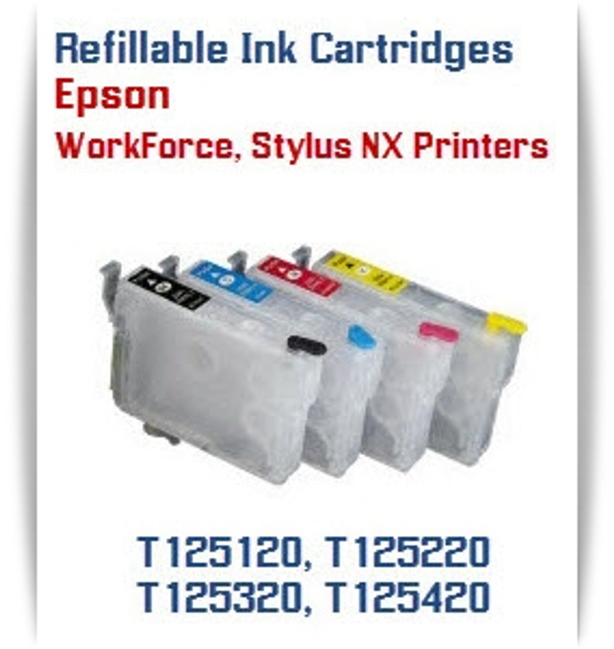 Refillable Epson WorkForce, Stylus NX Printer Ink Cartridges