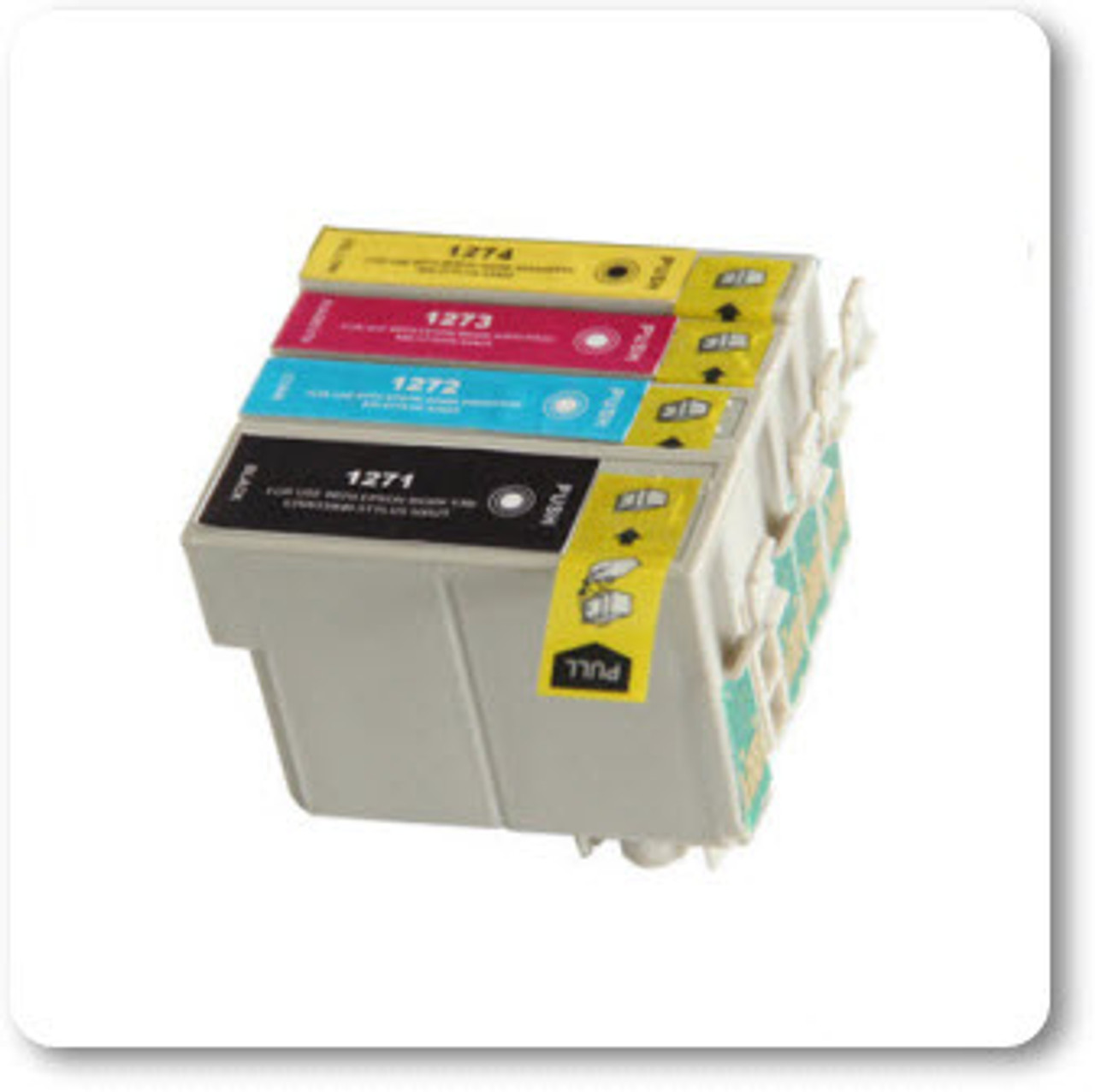 T126, T127 EPSON WorkForce 635 All-in-One Printer Compatible Ink Cartridges