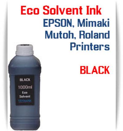 Black  Eco Solvent Ink 1000ml bottle ink - EPSON, Roland, Mimaki, Mutoh printers