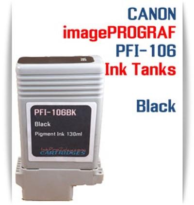 Black PFI-106 Canon imagePROGRAF Compatible Pigment Ink Tanks 130ml