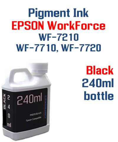 Black Pigment ink 240ml bottle Epson WF-7210 WF-7710 WF-7720 printers