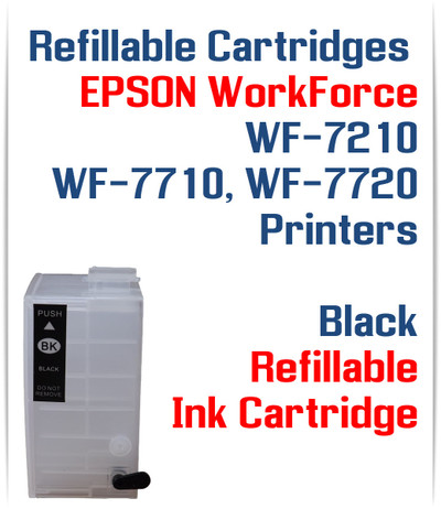 Black XL Refillable Ink Cartridge (empty) Epson WorkForce WF-7210, WorkForce WF-7710, WorkForce WF-7720 Printers