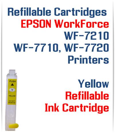 Yellow Refillable Ink Cartridge (empty) Epson WorkForce WF-7210, WorkForce WF-7710, WorkForce WF-7720 Printers