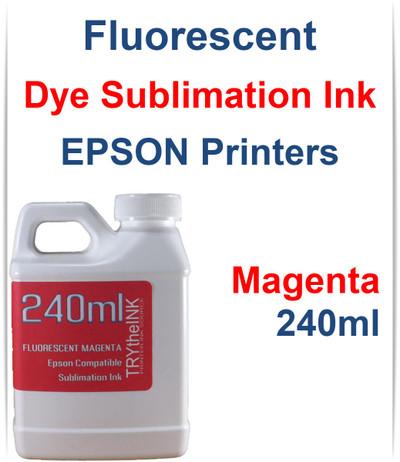 Magenta 240ml bottle Fluorescent Dye Sublimation Ink for EPSON Printers