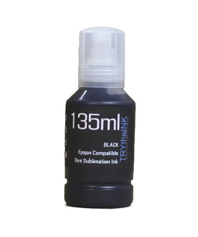 Black Dye Sublimation Ink 135ml Bottle for EPSON EcoTank ET-2800 ET-2850 Printers