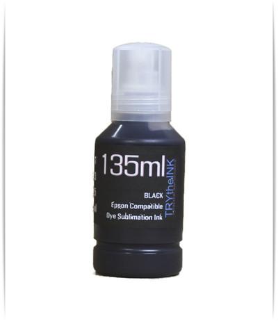Black Dye Sublimation Ink 135ml Bottle for EPSON EcoTank ET-2800 ET-2850 Printer