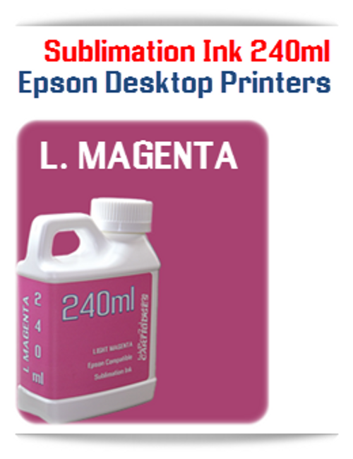LIGHT MAGENTA 240ml Epson Desktop printers compatible Sublimation Ink