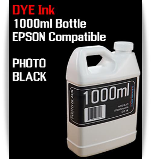 Photo Black 1000ml Dye Bottle Ink Epson Stylus Pro Printers