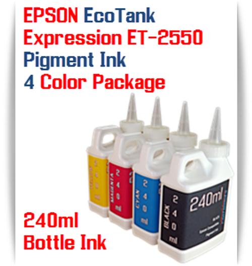 EPSON Expression ET-2550 EcoTank 4 Color 240ml Pigment Bottle Ink